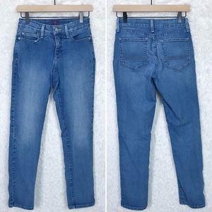 NYDJ | Mid Rise Light Wash Slim Straight Jeans 2P